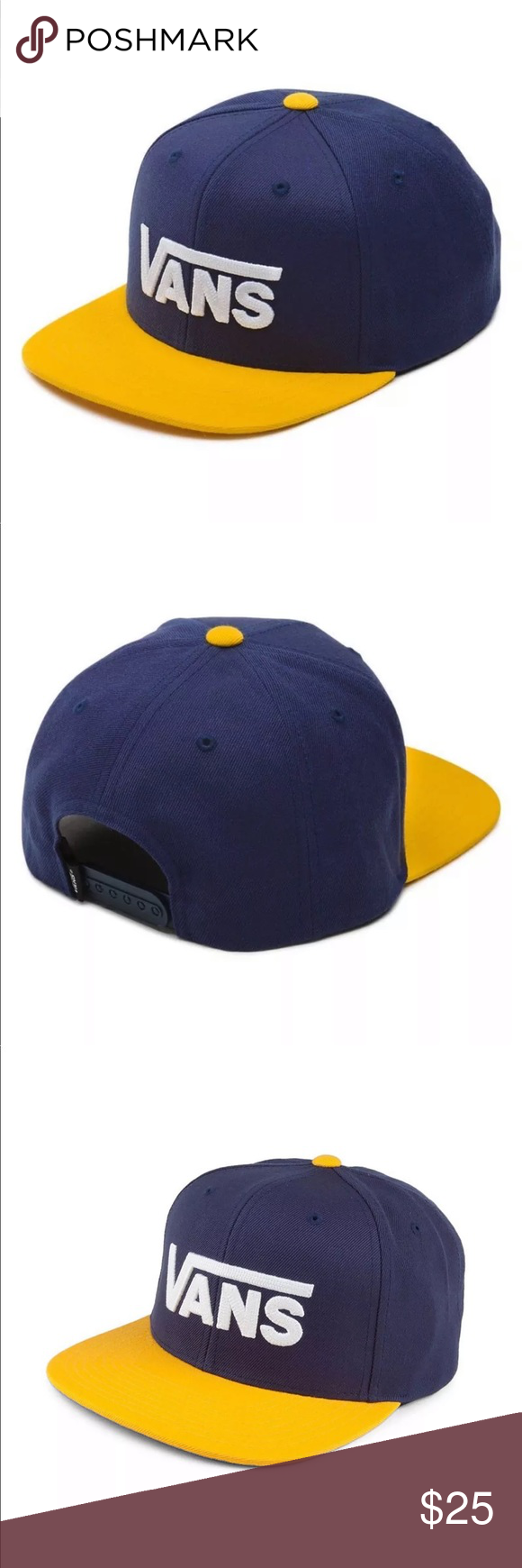 3b056033 Vans Men's Cappelli Drop V II Snapback Trucker AUTHENTIC Vans Dugout  Baseball Cap SIZE : ONE