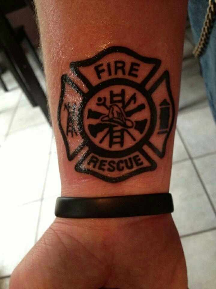 Firefighter Rescue Tattoo Firefighter Emt Police Tatto