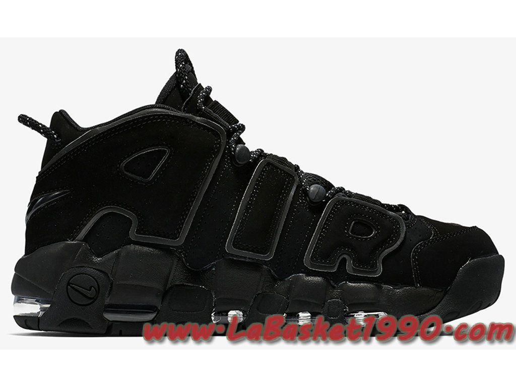 7c93827f4a016 Nike Air More Uptempo 414962-004 Chaussures de BasketBall Pas Cher Pour  Homme Noir