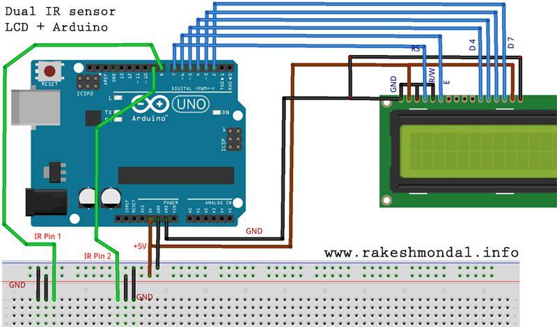 Interface Single And Dual Ir Infrared Sensor With Arduino And Lcd Arduino Arduino Lcd Sensor