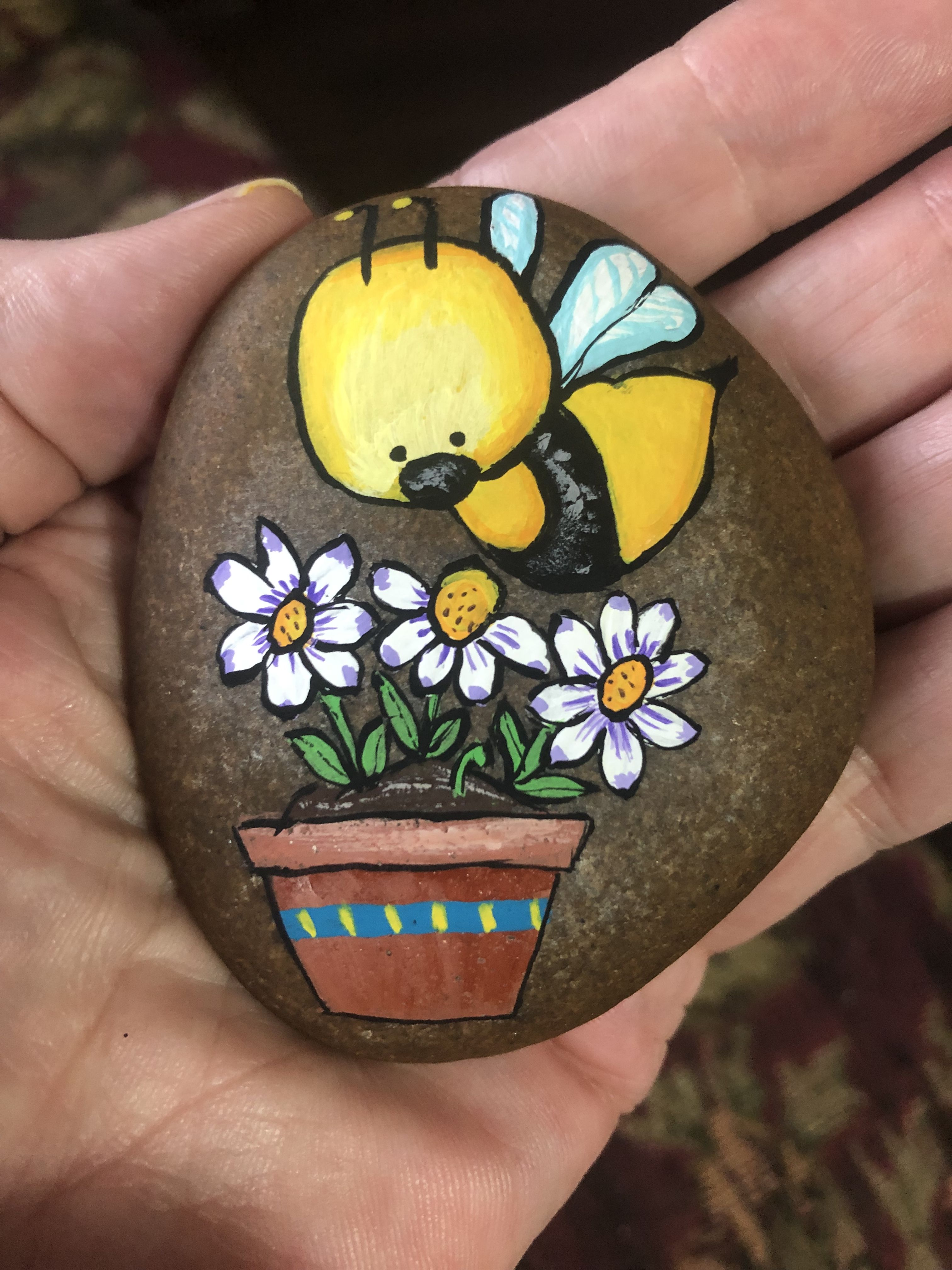 Pin De Susan Locke En My Paintings Piedras Pintadas A Mano Piedras Decorativas Decoracion Con Piedras