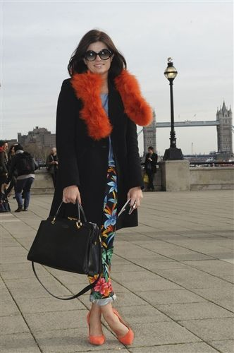 on the STREET AT LONDON FASHION WEEK 2012
