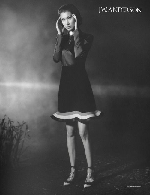 crfashionbook Bella Hadid brings the drama for JW Andersons
