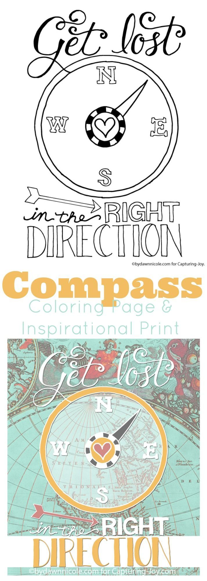 get lost in the right direction coloring page print summer