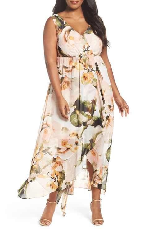 dc3093afc7 Sangria Chiffon Maxi Dress (Plus Size)