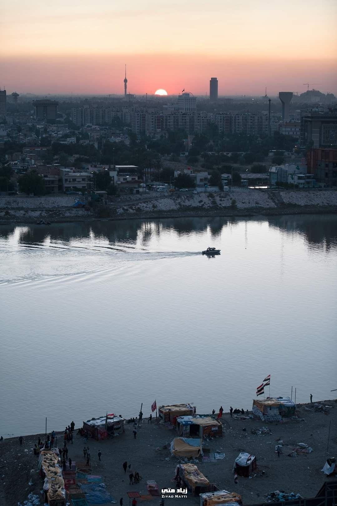 Pin By Ahm4div On مظاهرات العراق Iraq Outdoor Water River