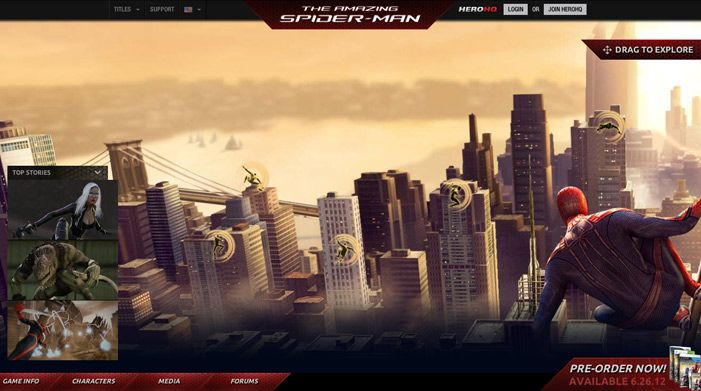The Amazing Spider-man | Awwwards | Site of the day