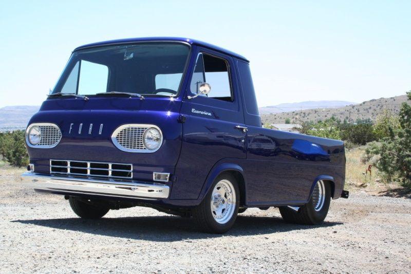 9e61c99806 1960s Ford Econoline E100 dark blue van pickup