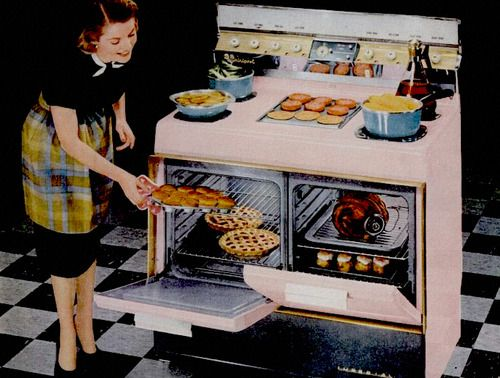 Rca Whirlpool Electric Range 1957 Vintage Kitchen