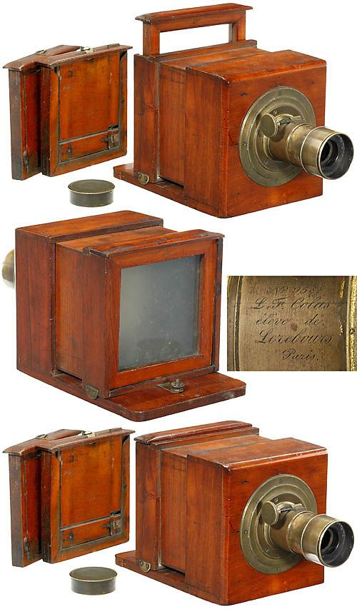 1845 Early Sliding Box Daguerreotype Camera Cameras And Lenses