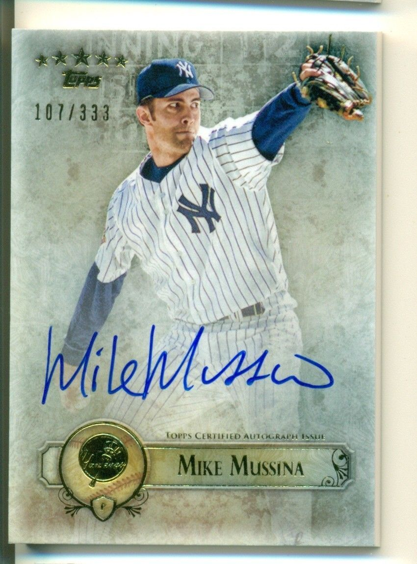 2013 Topps Five Star Mike Mussina Yankees Auto 107/333