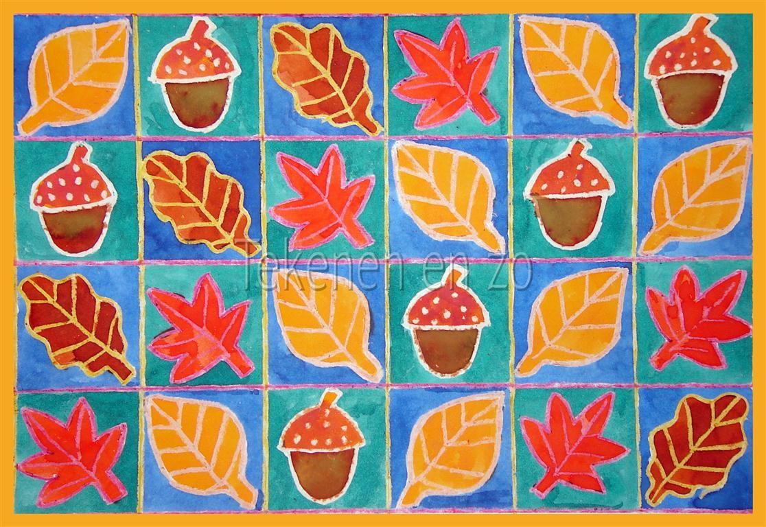 Quatang Gallery- Door Jorine Groep 8 Benodigdheden Wit Tekenpapier 30 Bij 20 Cm Potlood Liniaal Wascokrijtjes Ecoline Penseel Pot Kinderkunst Herfst Knutselen Herfst Tekenen