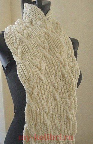 Женские шарфы спицами описанием схемами фото 163