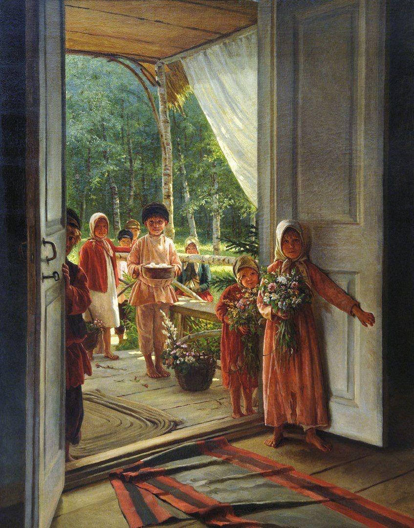 Авторских открыток, открытки с репродукциями картин русских художников