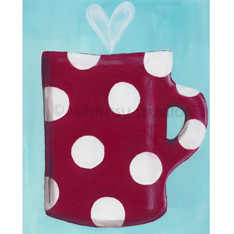 Dotty mug. $18,00, via Etsy.