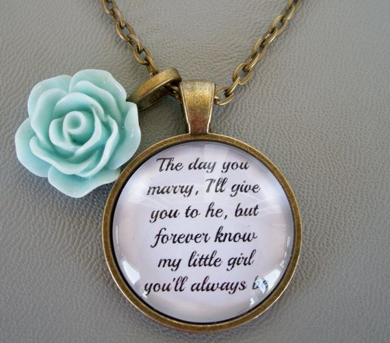 Father To Daughter Bride Keepsake Necklace What A Special Gift From Dad