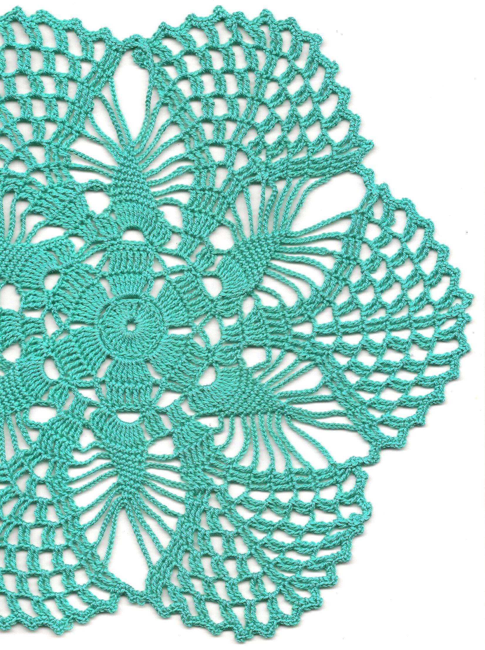 Vintage Handmade Crochet Doily Lace Lacy Doilies Wedding Decoration Home Decor Flower Mandala Dream Catcher Crocheted Round Mint