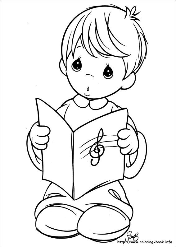 Precious Moments coloring picture | Downloads and sketches ...