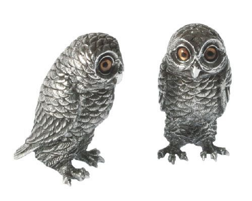 Salt Pepper Owl From Vagabond House In Yardley Pa From Pink Daisy Salt And Pepper Set Stuffed Peppers Vagabond House