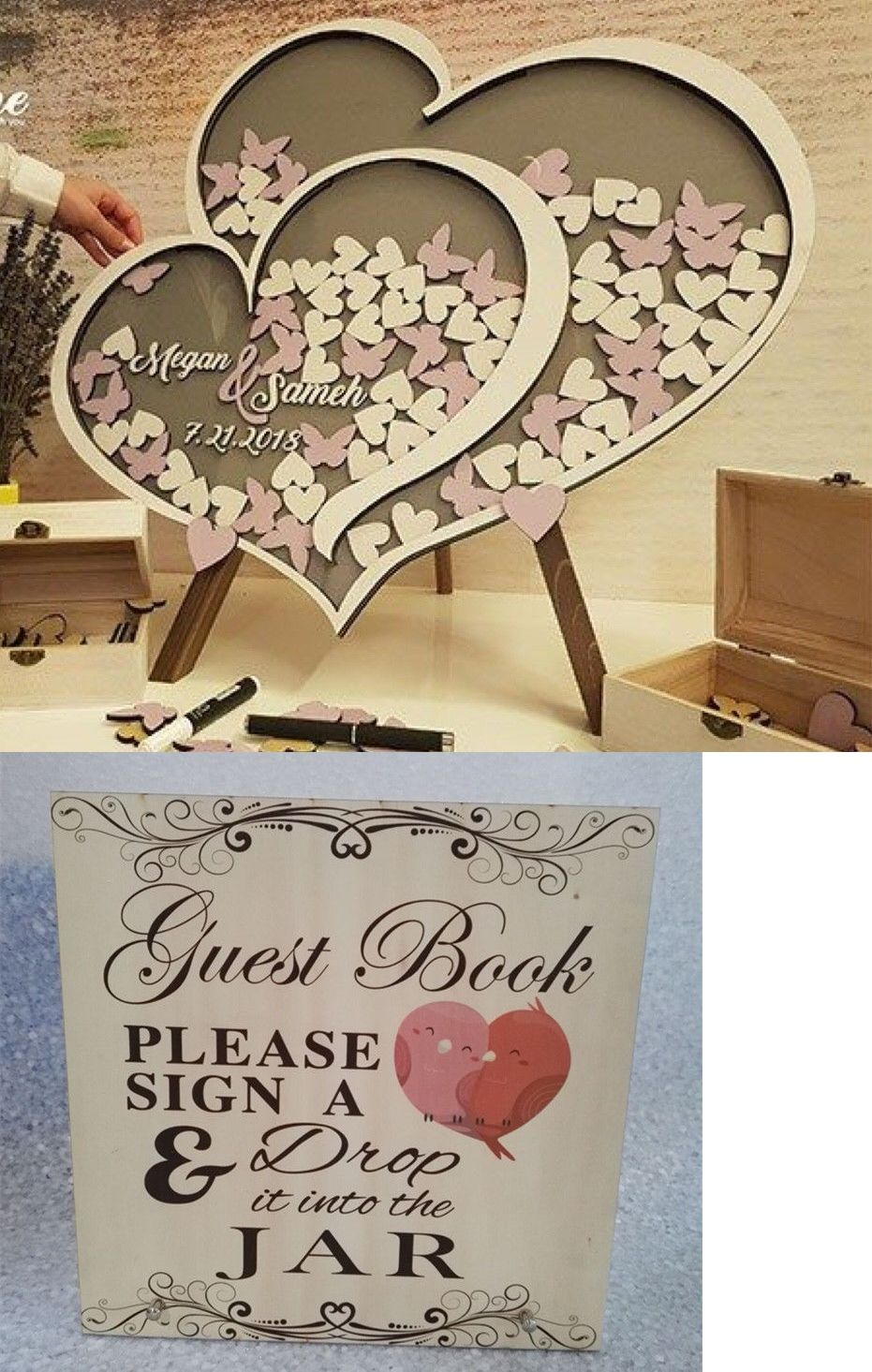 Details about personalised wedding party guest book
