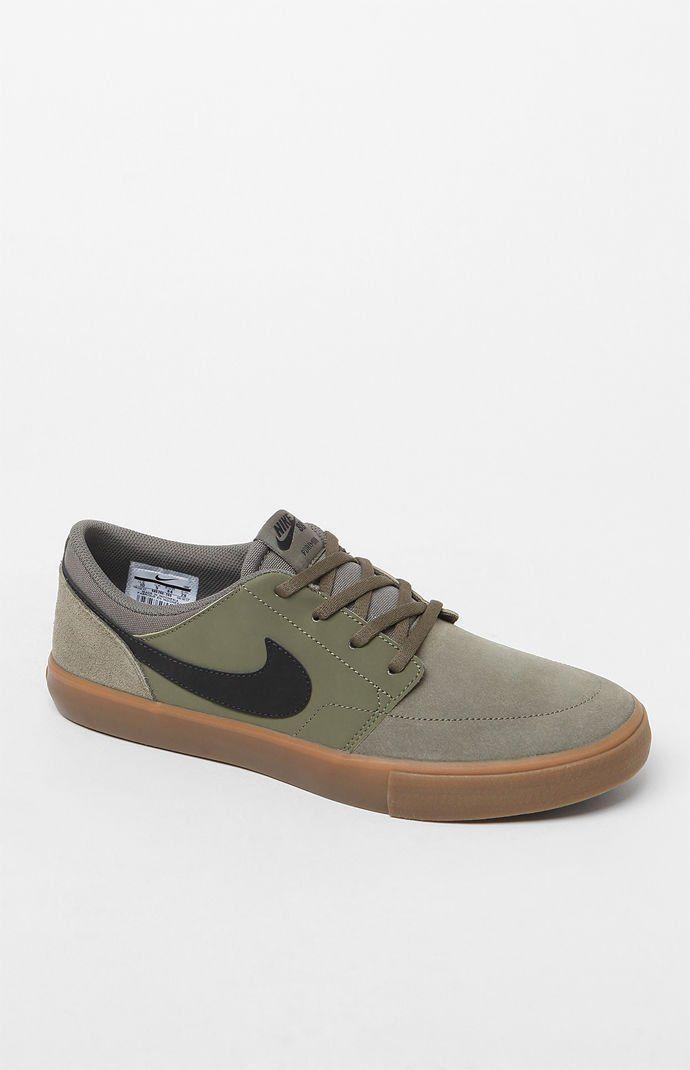 adidas Nike Sb Solarsoft Portmore II Olive Chaussures Pinterest