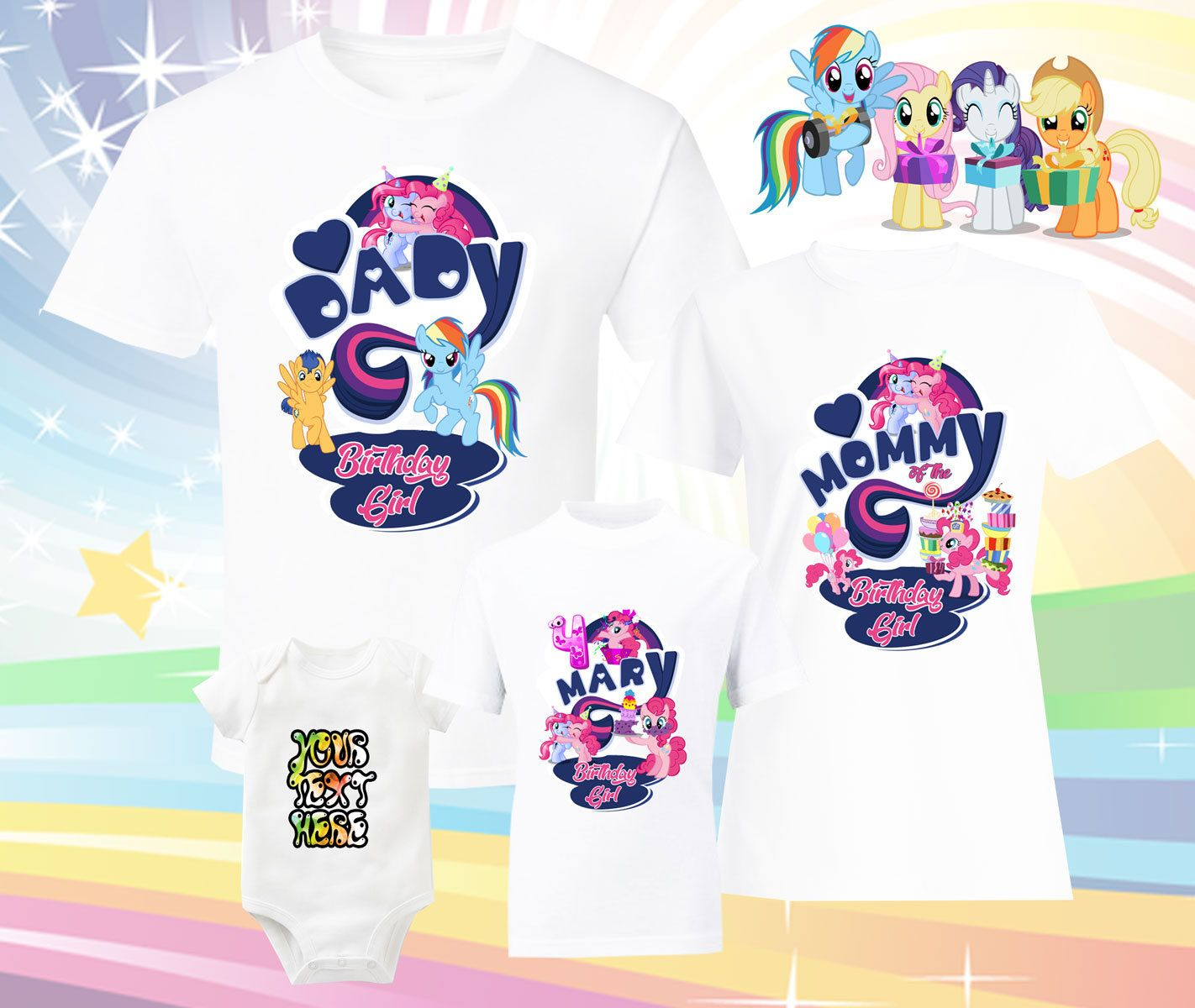 Birthday Shirts Family My Little Pony Friendship Is Magic T Shirt Twilight Sparkle Rarity By