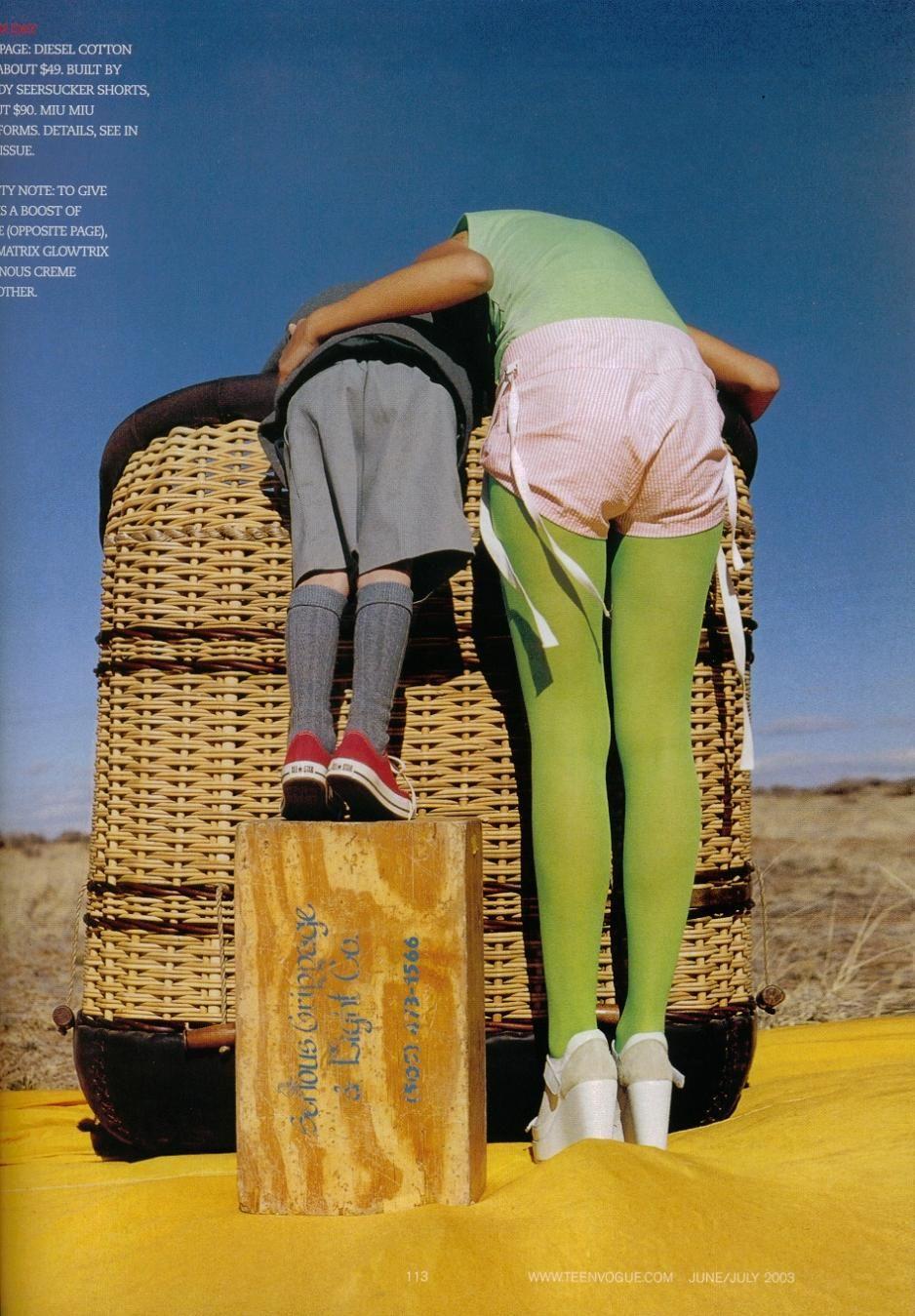TEEN VOGUE JUNE/JULY 2003  FLYING COLORS  MODEL: LOUISE  HAIR: JULIEN LE BAS  MAKE-UP: EMMA LOVELL  PHOTOGRAPHER: TIM WALKER  FASHION EDITOR: CAMILLA BIDAULT-WADDINGTON