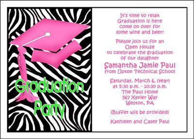 wording for graduation open house invite Google Search