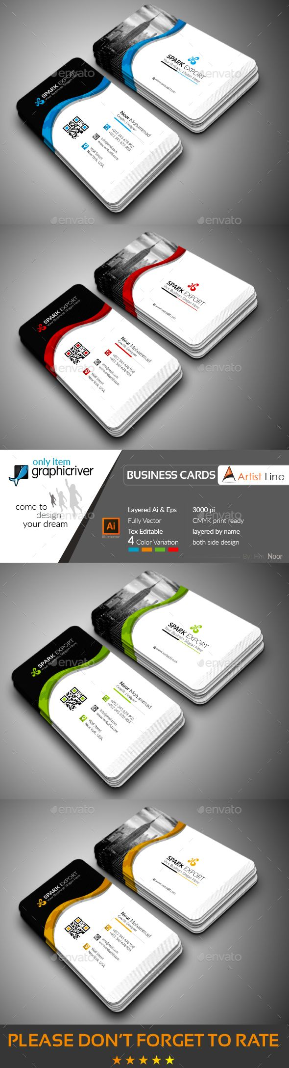 Exclusive Business Card Template Vector EPS, AI Illustrator ...
