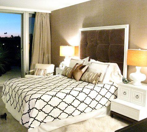 Chocolate cream bedroom