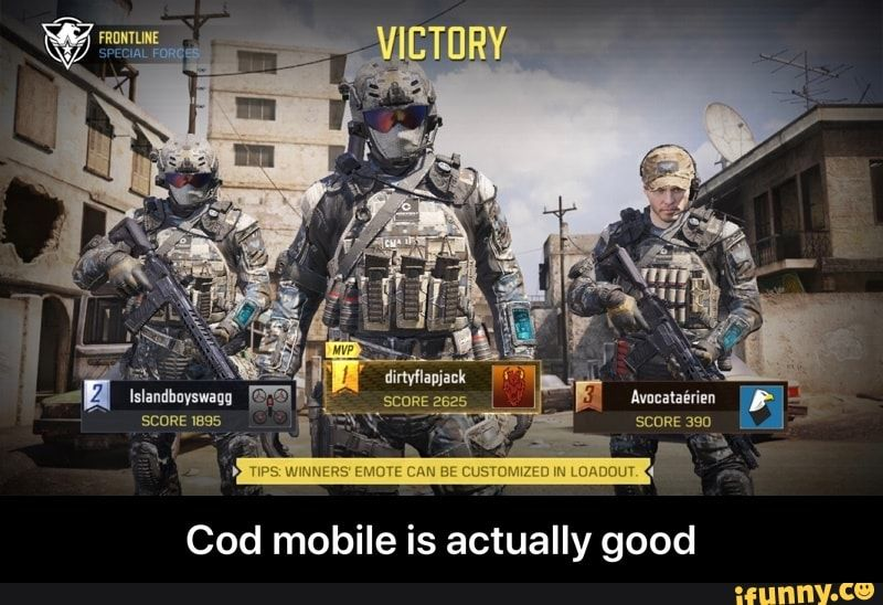 Cod Mobile Is Actually Good Cod Mobile Is Actually Good Ifunny