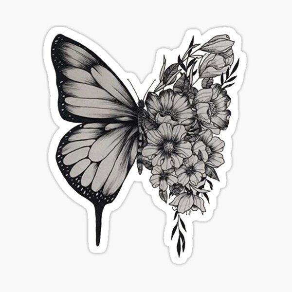 s h a w n - butterfly Sticker