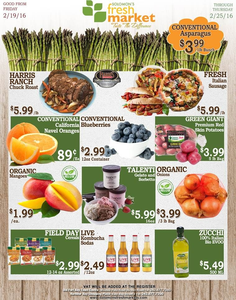 Check out these deals at solomons fresh market and taste