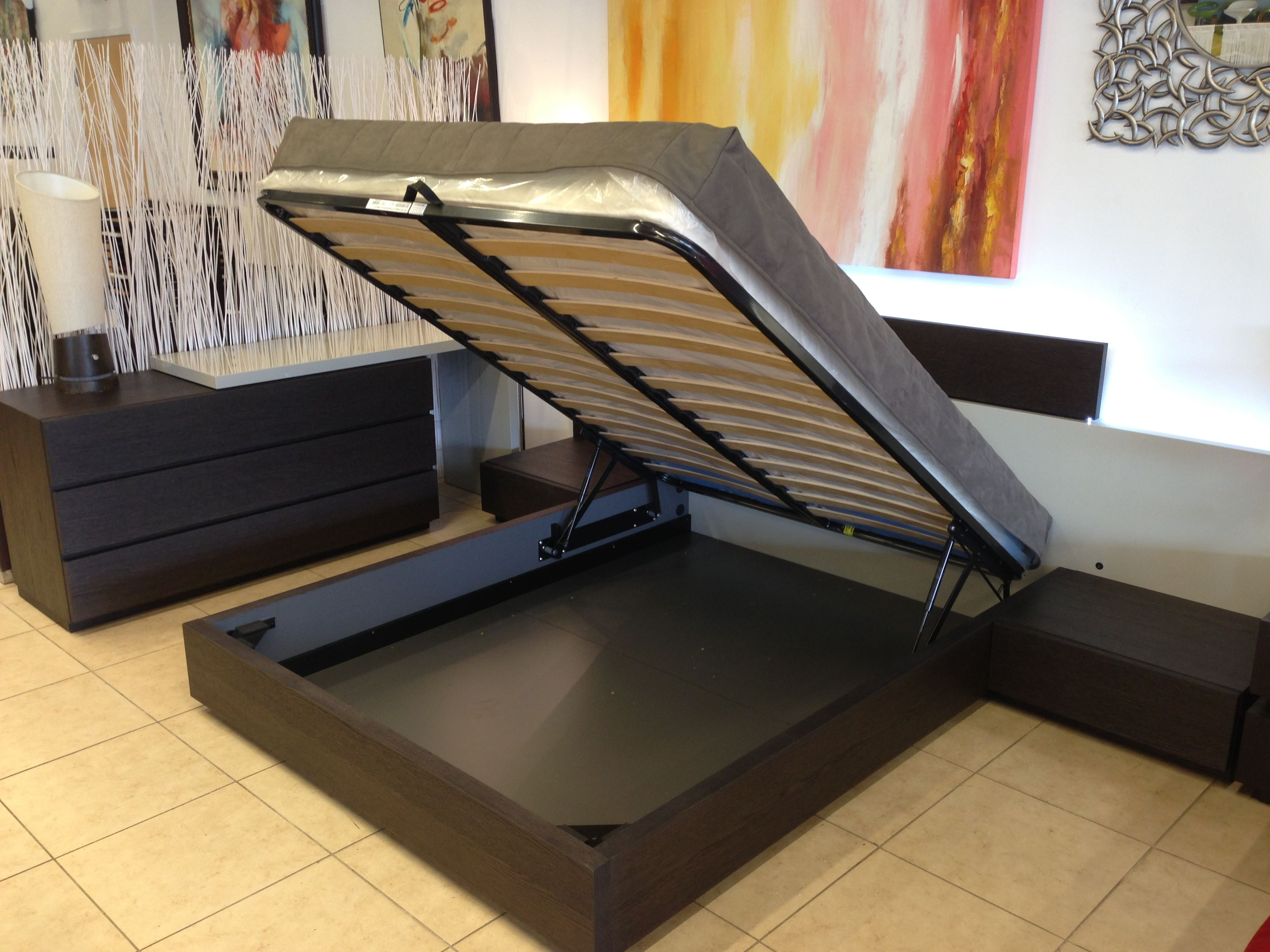 Hydraulic Lift Storage Bed Made In Italy Furniture