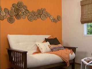 Manualidades y artesan as ambiente r stico con rodajas for Utilisima decoracion de interiores