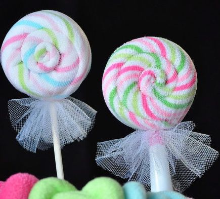 how to make a lollipop washcloth