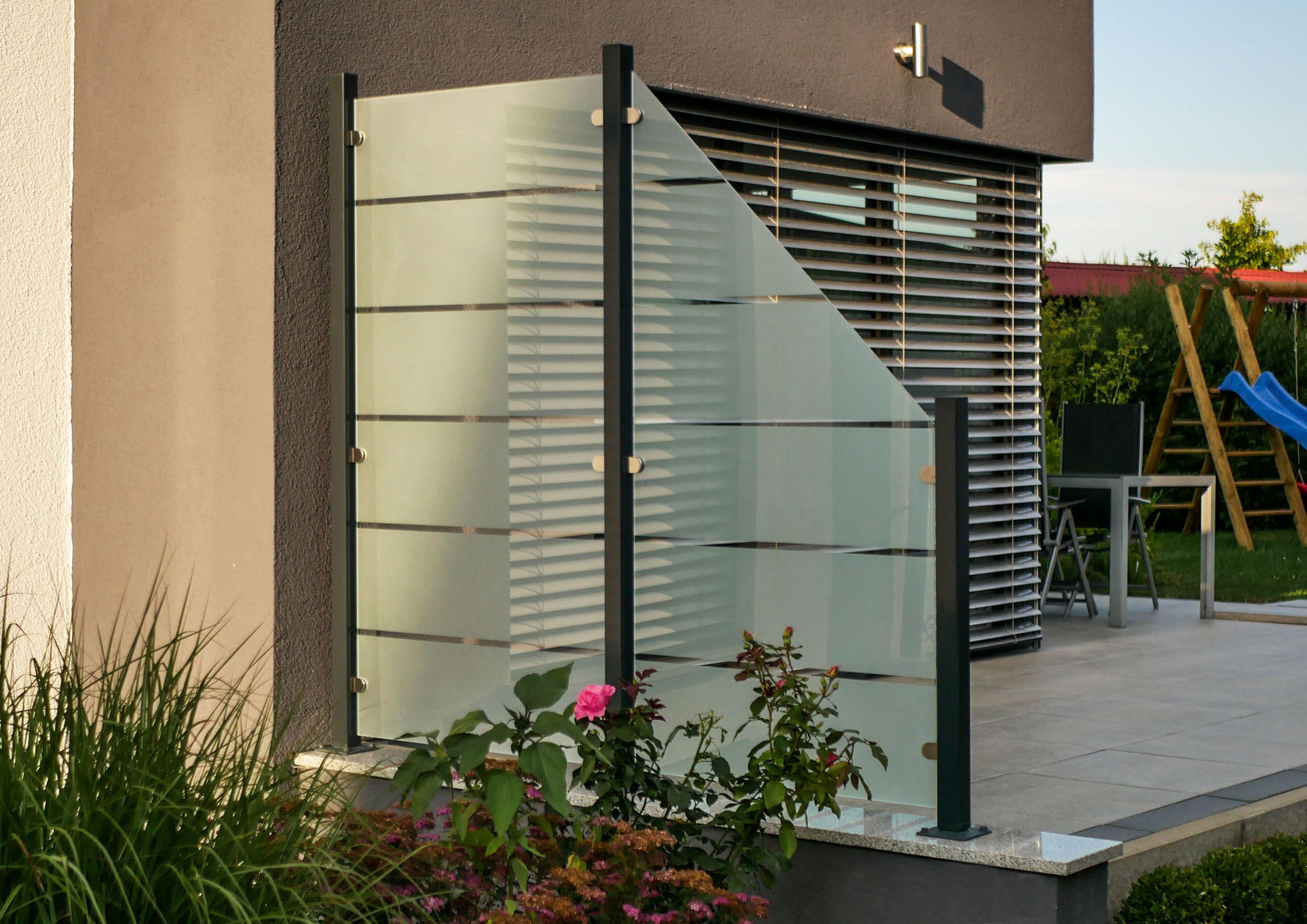 Pin Von Meike Hofmann Auf Terrasse Glaszaun Sichtschutz