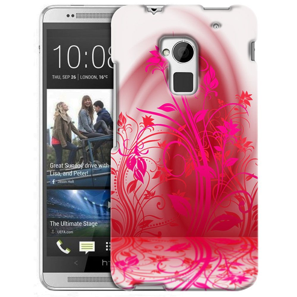 HTC One Max Pink Plant Beautiful Shadows on White Slim Case