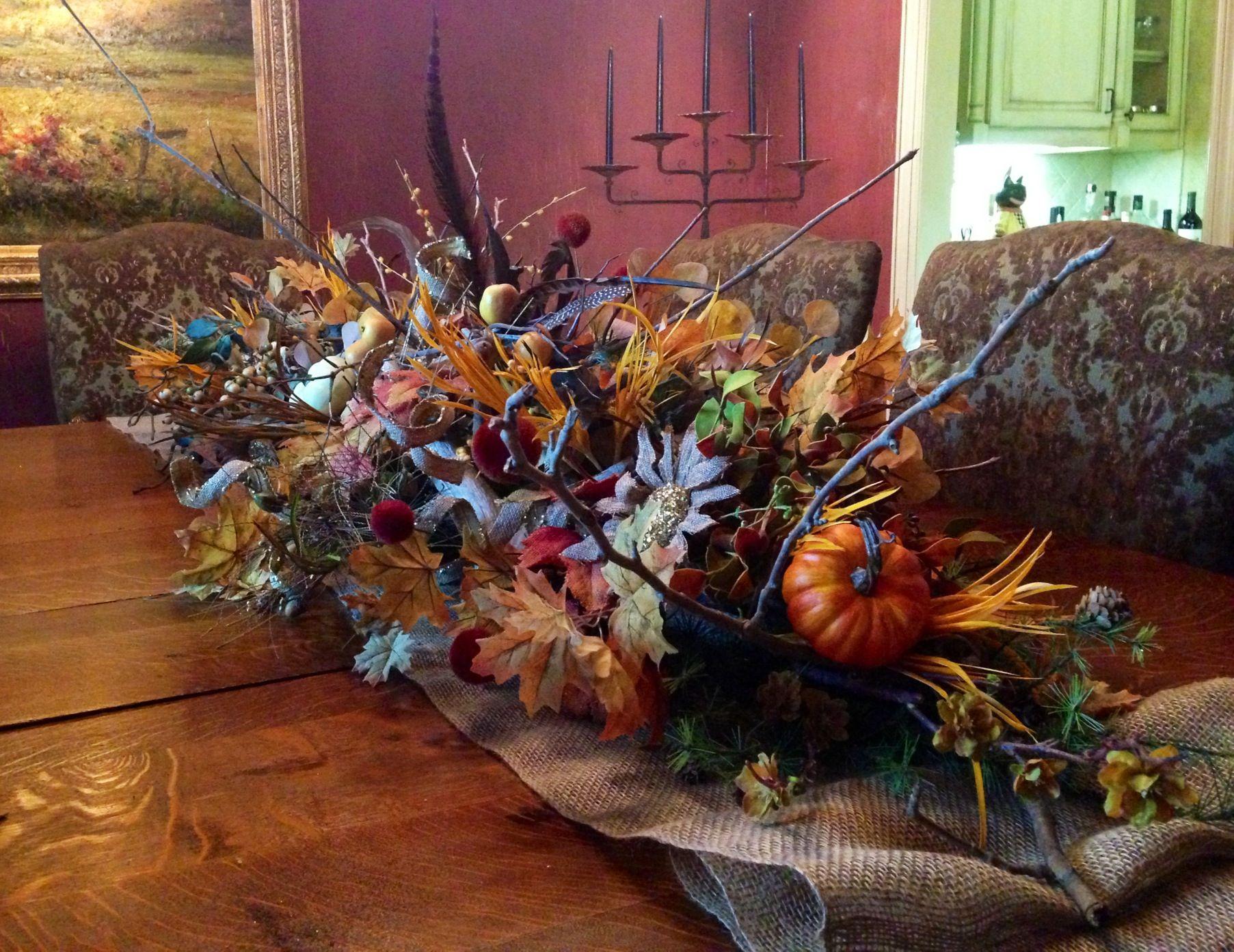 Fall/ Halloween table decoration