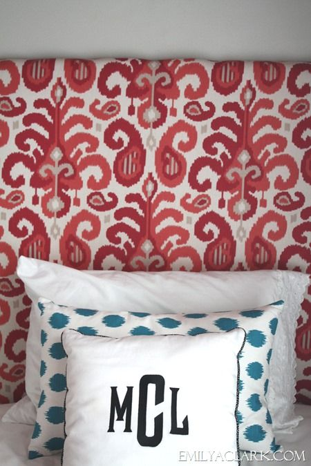 DIY fabric covered panels (upholstered headboards) ://emilyaclark.com/ & Fabric Covered Panels (If You Need a Headboard Fast | Fabric ... pillowsntoast.com