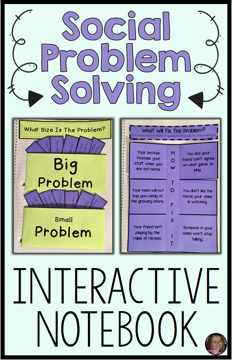 These Social Problem Solving Interactive Notebook Pages Will Teach Your Upper Elementar Problem Solving Activities Teaching Social Skills Social Skills Lessons