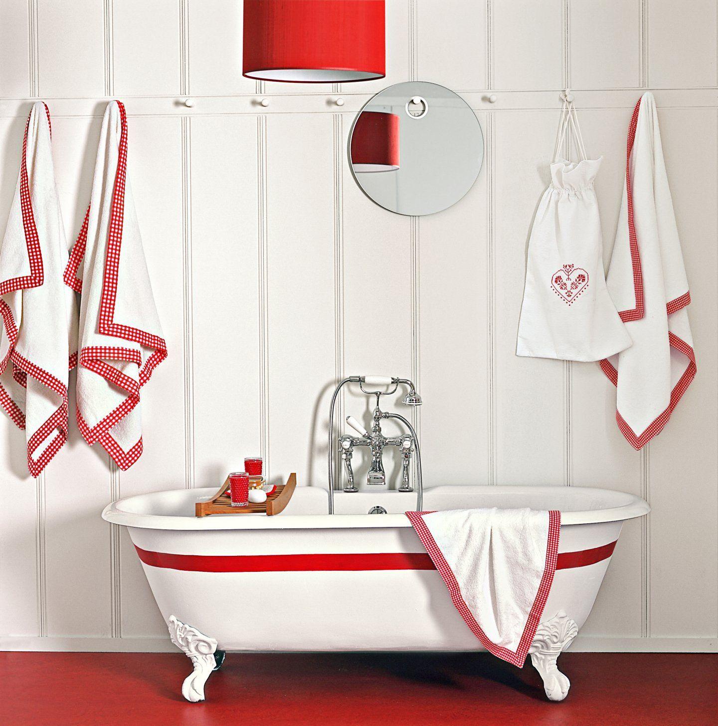 20 Budget-Friendly Bath Ideas | Bathroom red, Budget ...