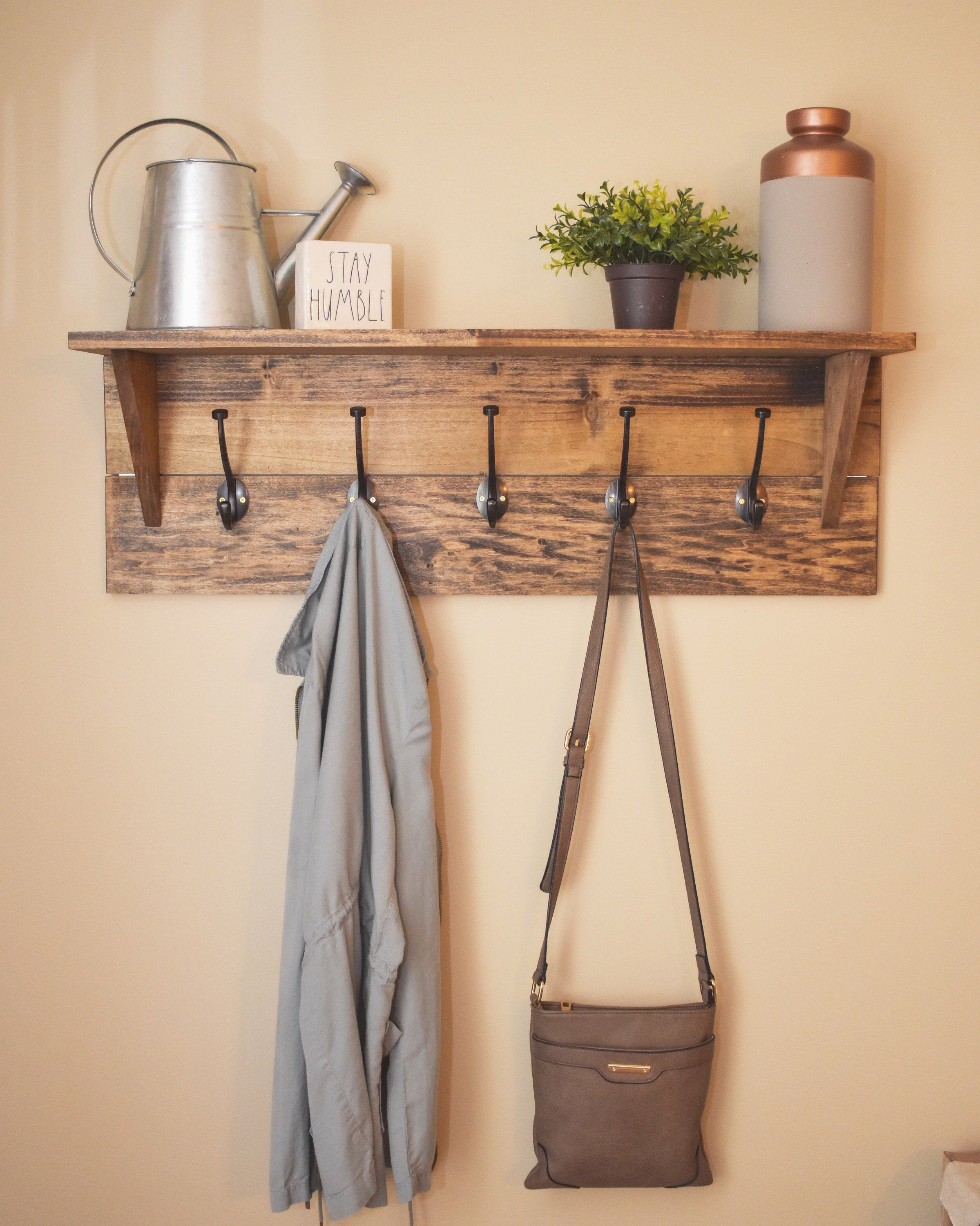 Wall Mounted Coat Rack With Shelf In 2019 Home Pinterest Wall