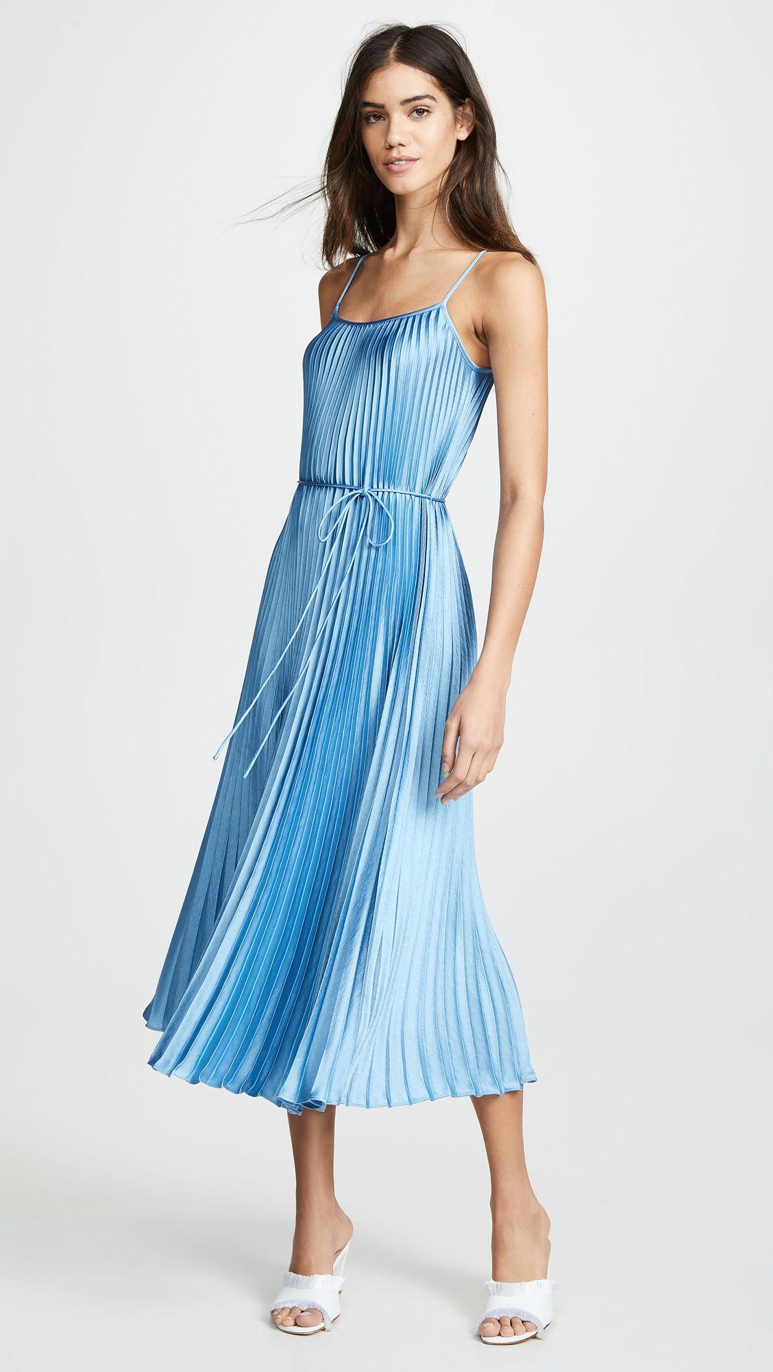Vince Pleated Cami Dress Wrap Over Dress Necklines For Dresses Dresses [ 2000 x 1128 Pixel ]