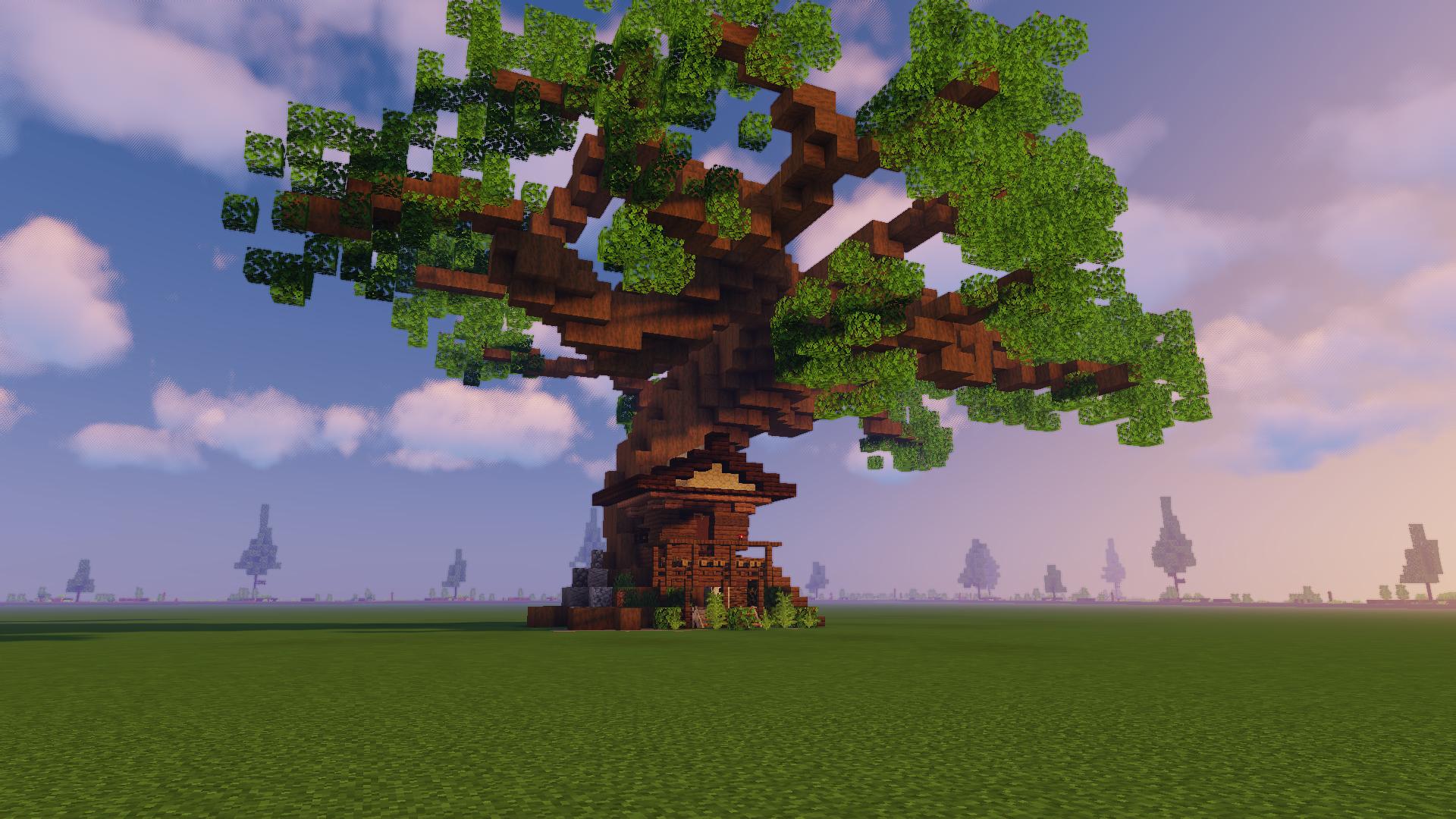 Treehouse Download Schematic Minecraft Tree Minecraft Treehouses Minecraft Creations