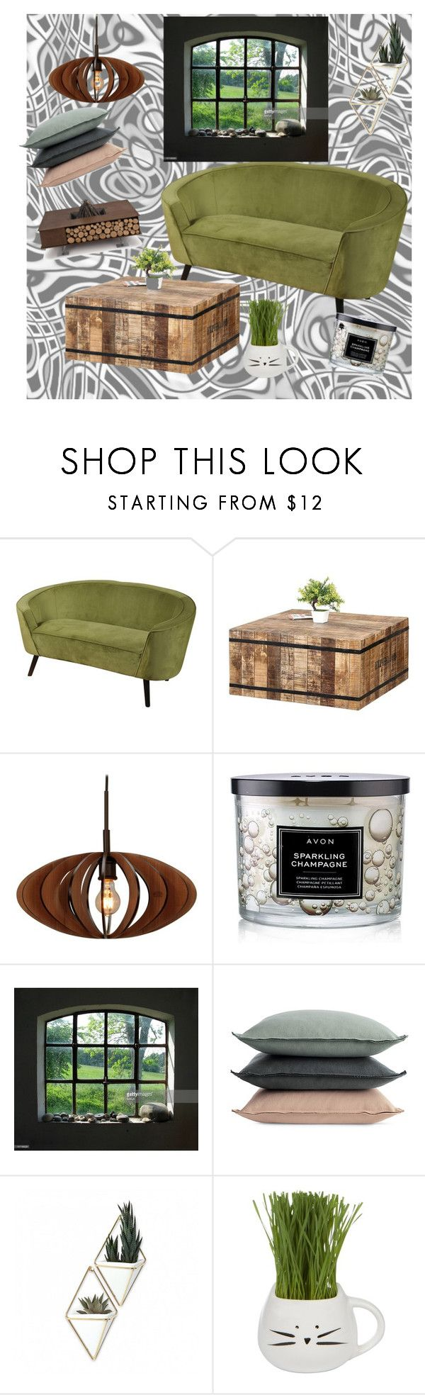 """""""Great Afternoon at Home"""" by melanieliz68 on Polyvore featuring interior, interiors, interior design, home, home decor, interior decorating, Woodbridge Lighting, Avon, Design Within Reach and Umbra"""