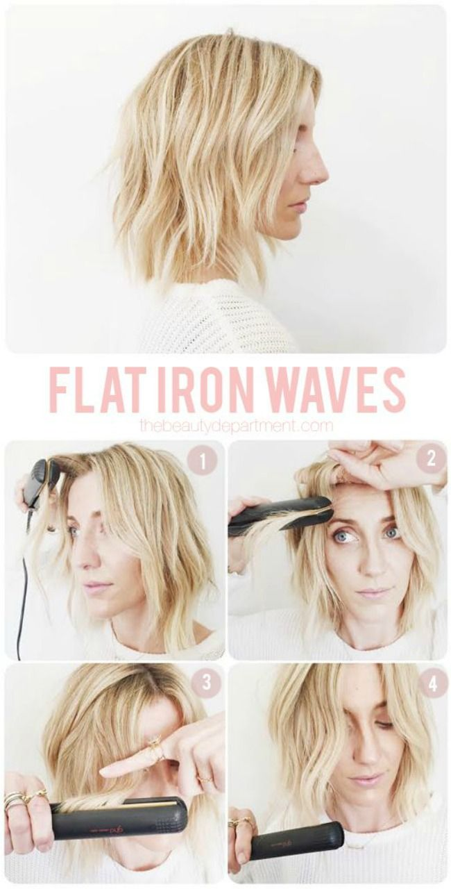 The 11 Best Flat Iron Tricks For The Hair The Eleven Best Frizz Free Hair Short Hair Styles How To Curl Short Hair