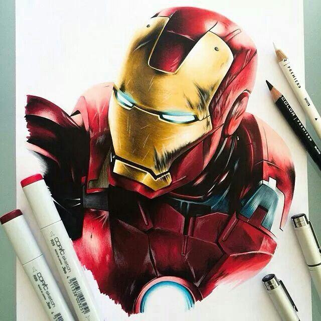 Iron Man Desenhos Realistas Desenhos Como Desenhar Maos