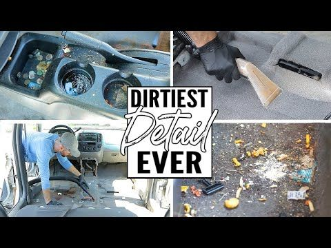 Cleaning The Dirtiest Car Interior Ever! Complete Disaster Full Interior Car Detailing A Ford Escape - YouTube #cleaningcars