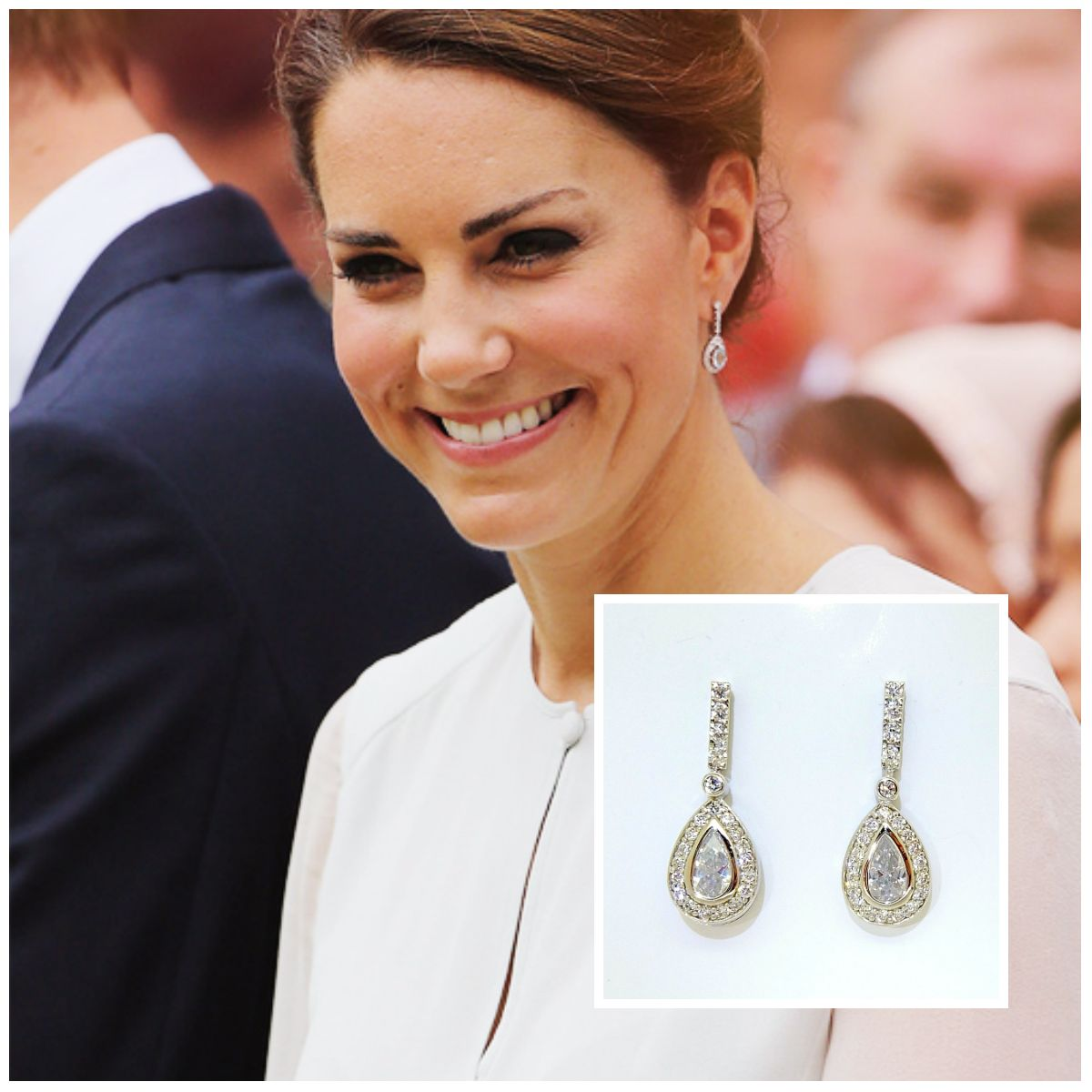 Yes To These Earrings! Updo Hairstylehairstyleskate Middleton